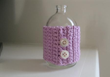 lavender bottle cuff