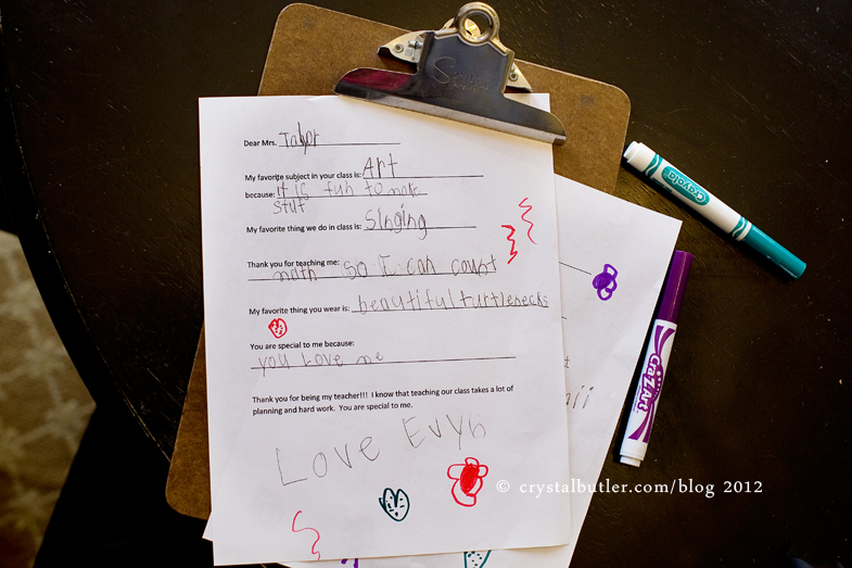 love note for the teachers…a valentine gift? (rocky mount, nc, photographer)