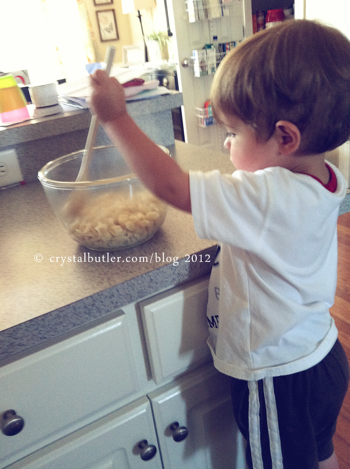 Let the two year old cook.