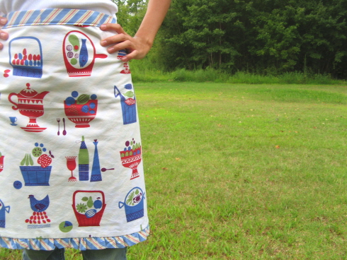 for the nielsons – auction #1: retro print half apron
